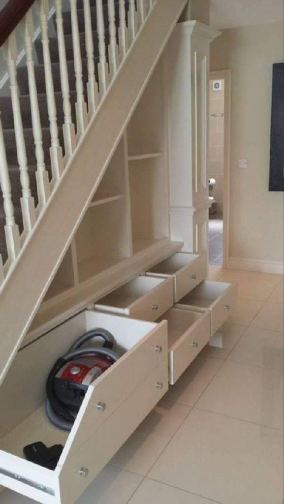 Шкаф под лестницей в частном доме: виды и варианты на 35 фото