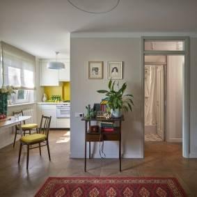 Дизайн квартиры 42 кв. м. [60+ фото], планировки 1, 2-комнатных, хрущевок