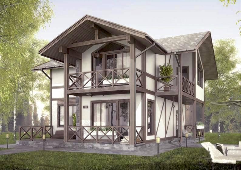 Дома фахверк — обзор лучших проектов и советы по выбору стильного оформления дома (115 фото)
