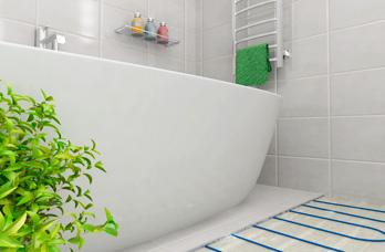 Теплый пол в ванной под плитку: правила монтажа и методика проверки на работоспособность