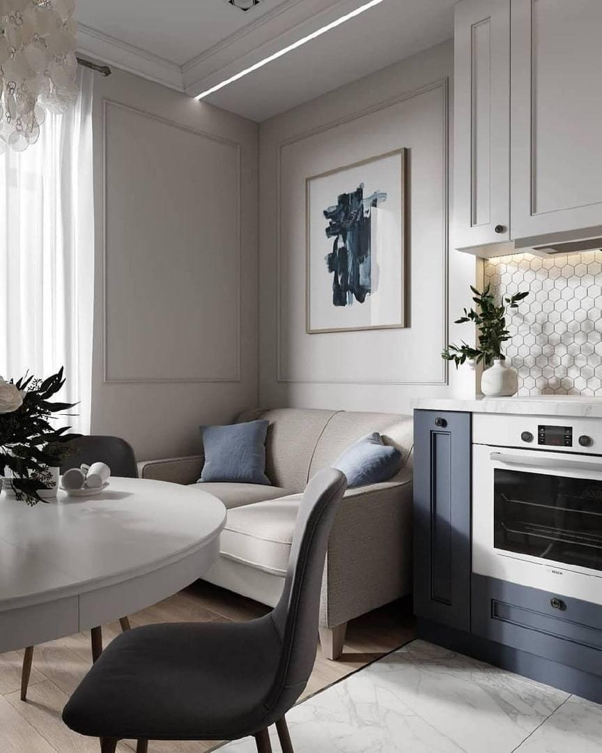 Дизайн кухни 11 кв.м с диваном: варианты планировки и правила зонирования, примеры оформления
