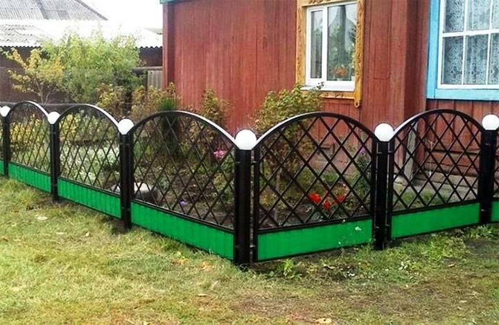 Забор для палисадника: виды, материалы изготовления, обзор популярных вариантов, фото-идеи дизайна