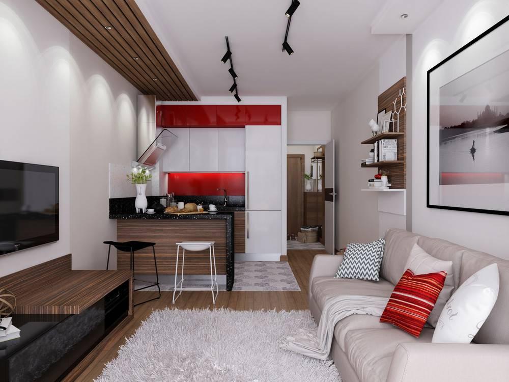 Дизайн квартиры-студии 30 кв м  лучшие идеи (проекты + фото) и советы