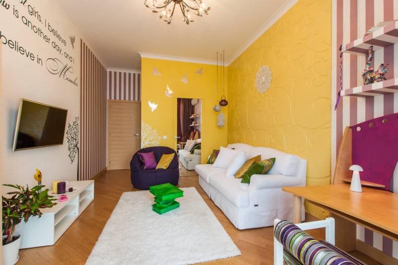 Желтый цвет в домашнем интерьере: фото и сочетания