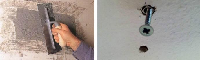 Как зашпаклевать дырку в стене своими руками