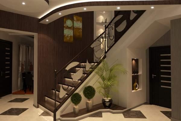 Дизайн прихожей с лестницей в частном доме: варианты оформления