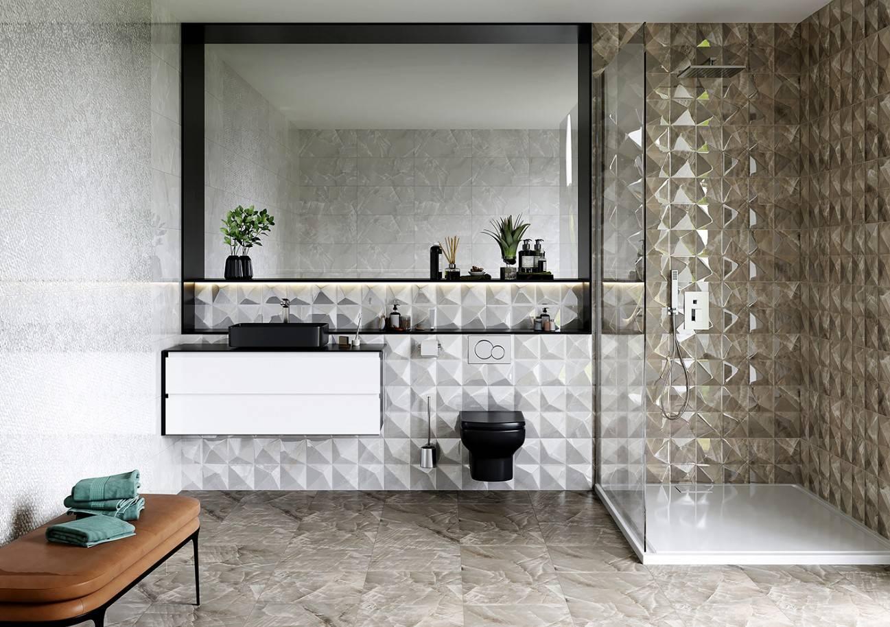 Как выбрать и установить керамический бордюр для ванной?