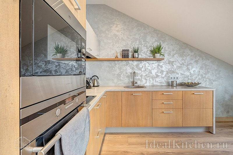 Декоративная штукатурка на кухне: 40+ фото в интерьере, современные идеи отделки