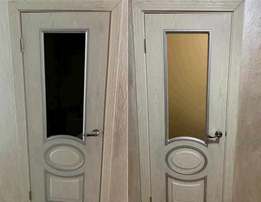 Вставить стекло в межкомнатную дверь: где и какой стороной его установить, можно ли сделать ремонт и как осуществить это правильно?
