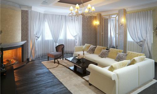 Интерьер загородного дома в современном стиле, готовые проекты современного дизайна, красивый интерьер