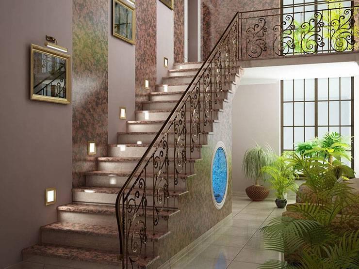 Отделка лестницы в доме: 160+ (фото) деревом, плиткой, камнем