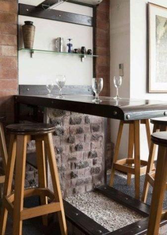 Тумба бар для гостиной ( 25 фото): дизайн барной витрины для зала, угловые мини комоды в современном стиле интерьера