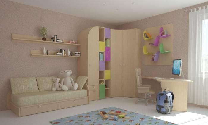 Существующие угловые шкафы для детской, их особенности