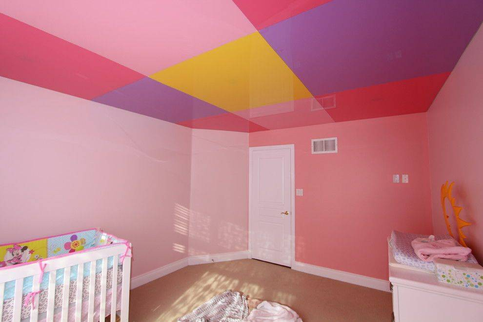 Потолок в детской (98 фото): дизайн, какой лучше сделать, красивые виды, с фотопечатью и звездным небом