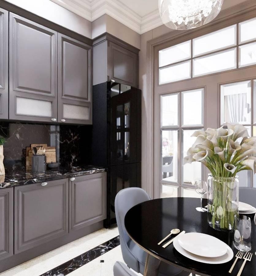 Неоклассика в интерьере квартиры или дома, характерные черты в дизайне гостиной, кухни и спальни в этом стиле