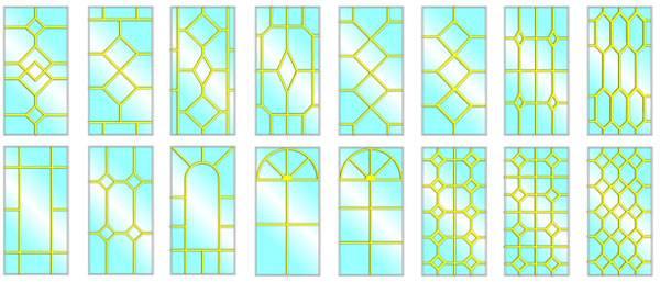 Пластиковые окна с декоративной раскладкой