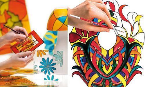 Обзор витражных красок и контуров | страна мастеров