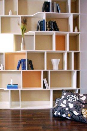 Шкаф-стеллаж: выбор и расположение в интерьере