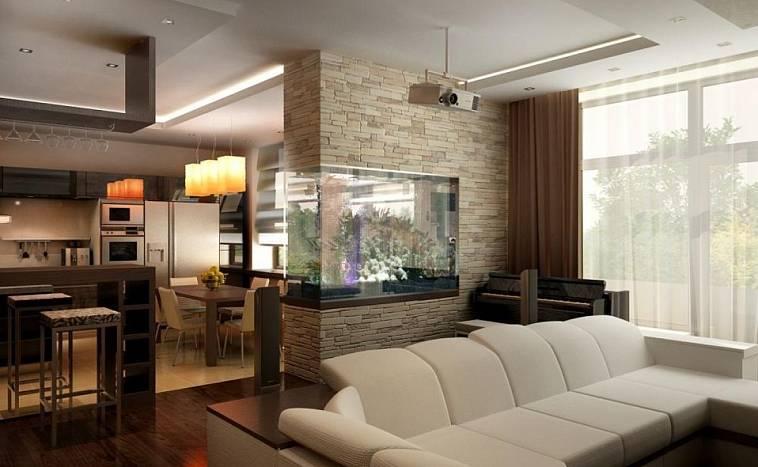 Дизайн кухни-гостиной 30 кв. м: проекты и советы по оформлению