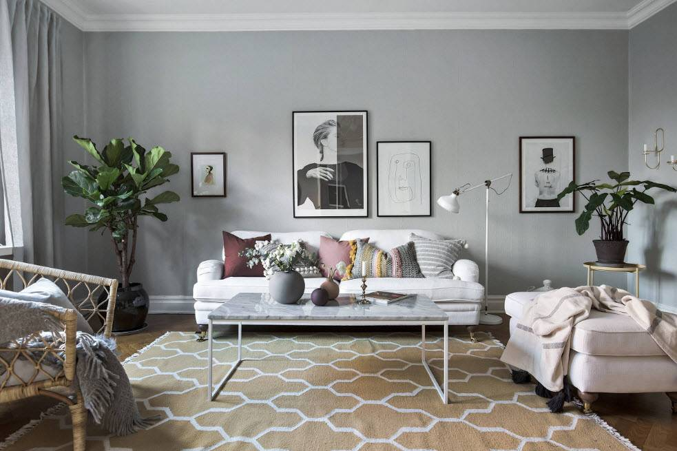 Как разработать дизайн гостиной комнаты в скандинавском стиле?