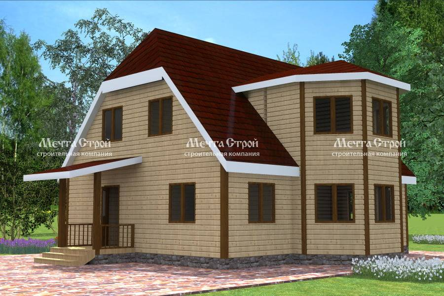 Одноэтажные дома с эркером (43 фото): проекты планировки домов с 1 этажом и двумя эркерами, гаражом и террасой, другие варианты