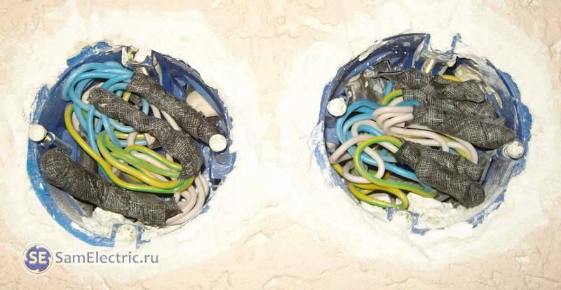 Соединение проводов в распредкоробке методом пайки своими руками