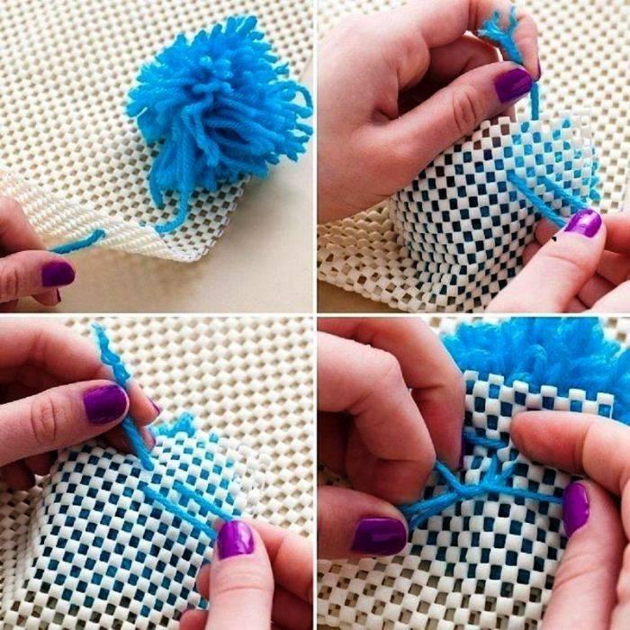 Как сделать коврики из старых вещей