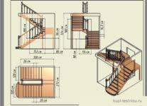 Определяем оптимальный угол наклона для лестницы на второй этаж