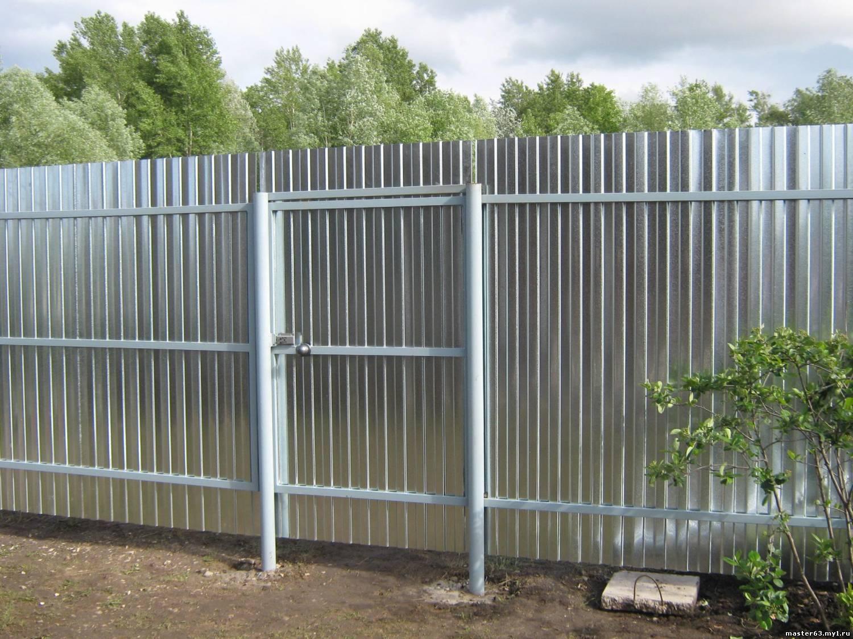Забор из профнастила своими руками: конструкция дизайн материалы + фото - видео