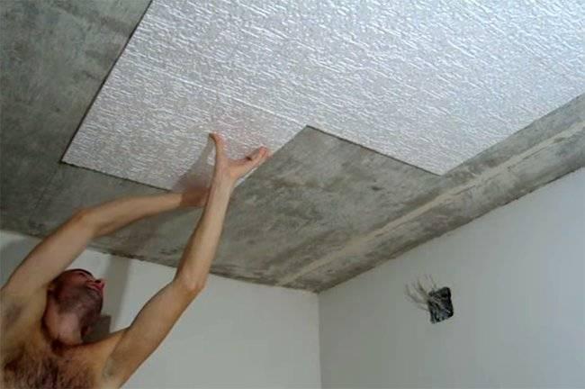 Виды пенопластовых плит для потолка, порядок монтажа