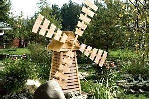 Как сделать декоративную мельницу: 85 фото актуальных идей для дачи и сада
