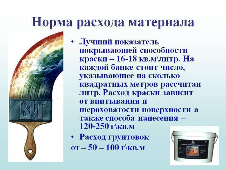 Расход краски на 1 кв. м поверхности стен: способы расчета, как рассчитать количество акриловой и масляной краски на 1 м2