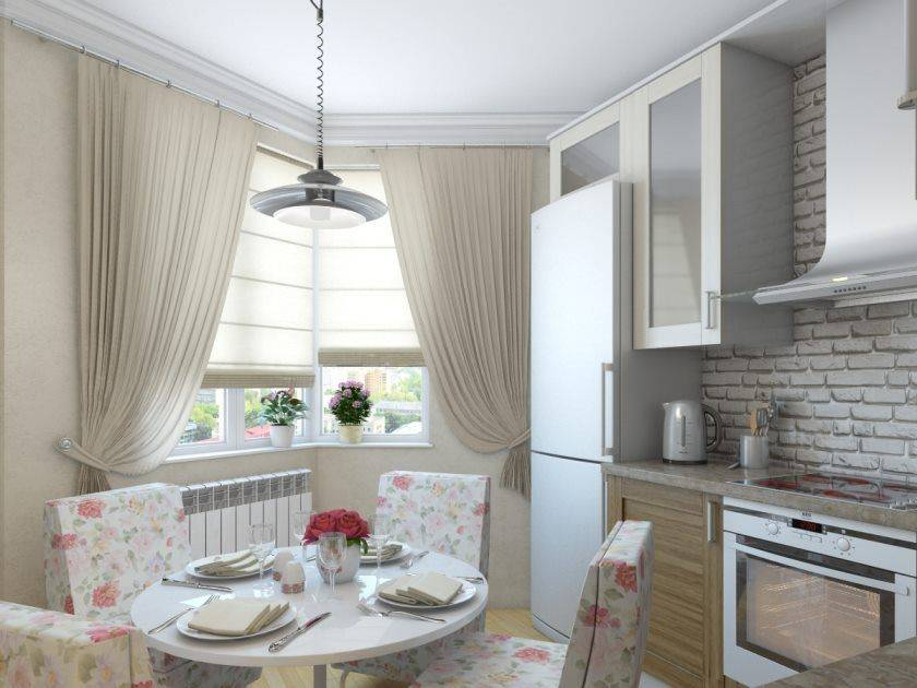 50 примеров штор на кухне в стиле прованс