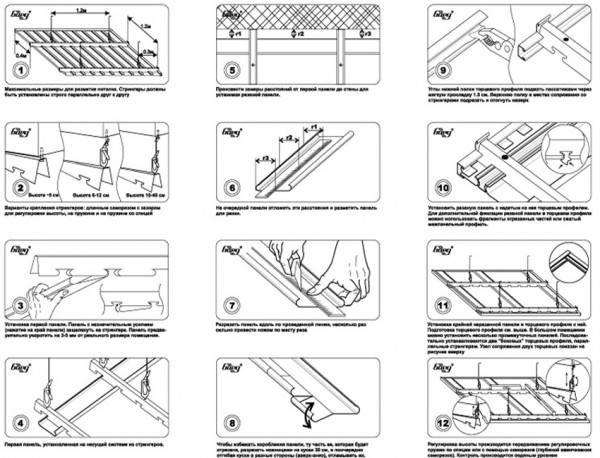 Реечный потолок своими руками: сравнение конструкций, материалов и пошаговые рекомендации по монтажу