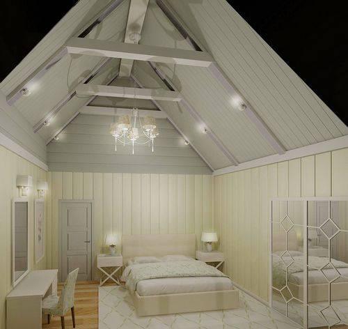 Дизайн мансарды с двускатной крышей: 22 фото + видео