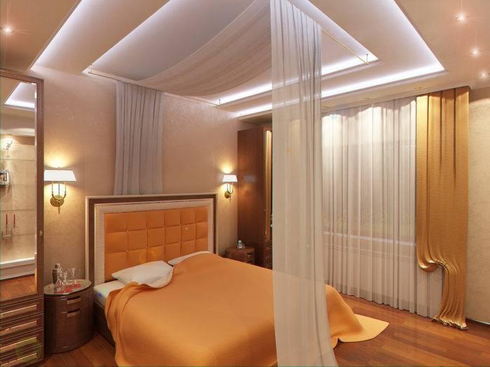 Потолки для спальни из гипсокартона (94 фото): идеи дизайна-2021 подвесных гипсокартонных конструкций, красивые потолки из гипсокартона