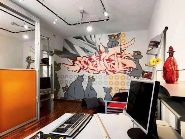 Рисунки 3d на стенах в квартире своими руками, с помощью трафарета или жидкими обоями, как нарисовать дерево и ветки в детской, изображение цветов в гостиной
