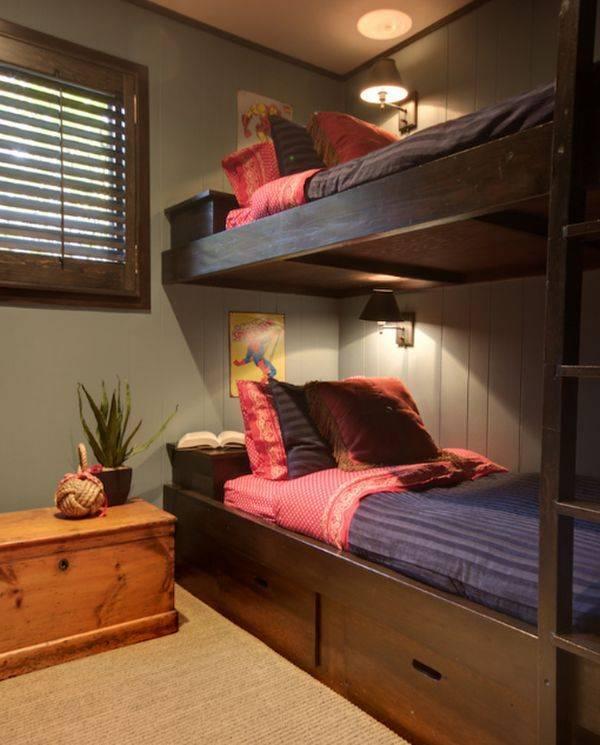 Двухъярусная кровать со шкафом: виды, правила выбора | фото