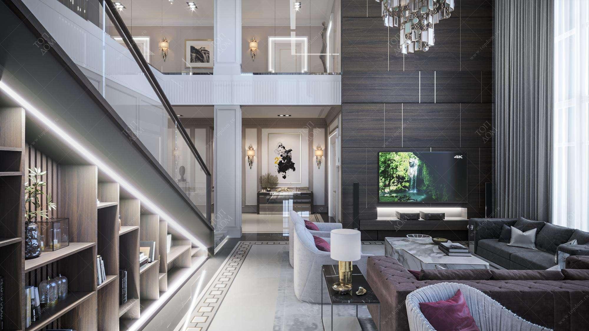 Дизайн гостиной с окнами на разных стенах