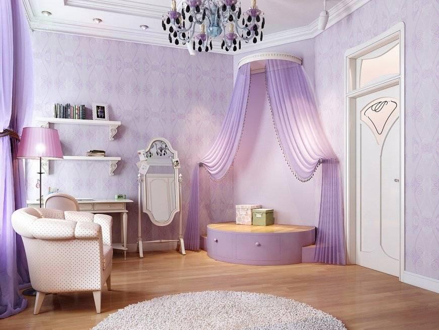 Дизайн спальни в сиреневых тонах: специфика, секреты, варианты (+ 62 фото)