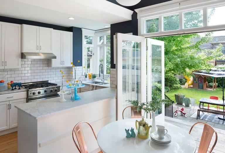 Кухня с выходом на террасу: фото вариантов дизайна