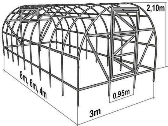 Теплица из поликарбоната своими руками чертежи и инструкция