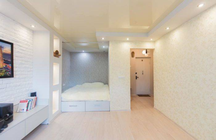 Дизайн однокомнатной квартиры. 100 фото интерьера однокомнатных квартир