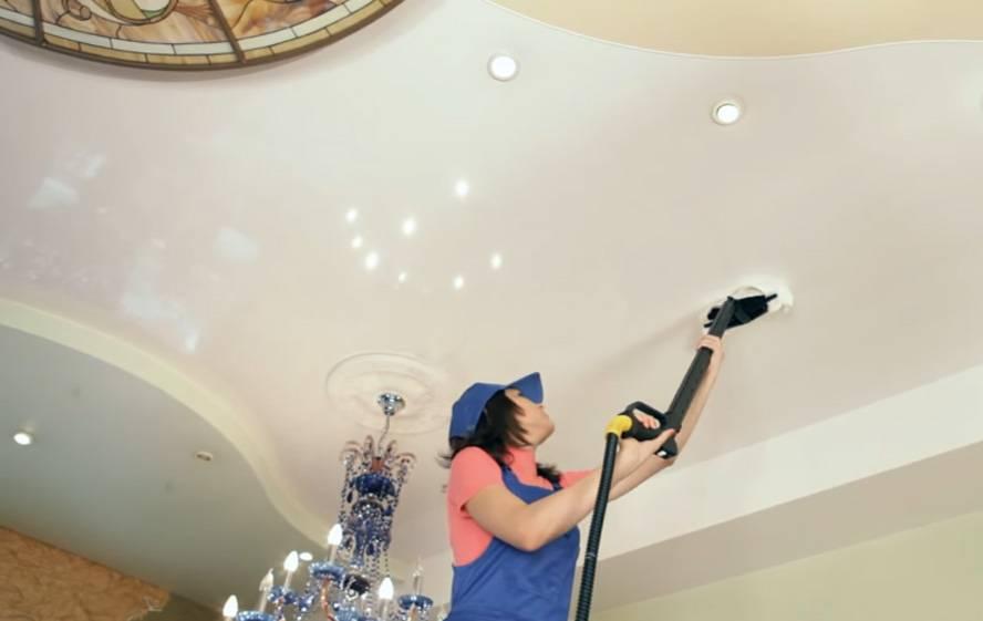 Как помыть натяжной потолок: выбор средства для чистки потолка в зависимости от качества его поверхности, практические советы