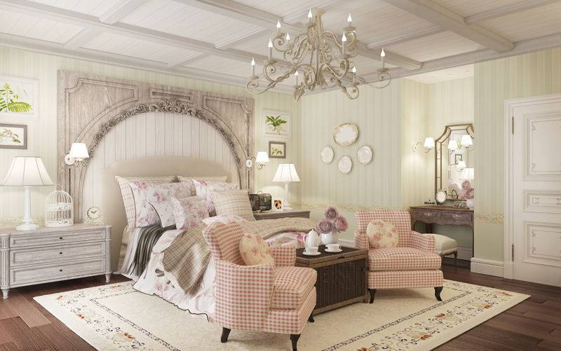 Гостиная в стиле прованс: домашняя атмосфера с ноткой элегантности