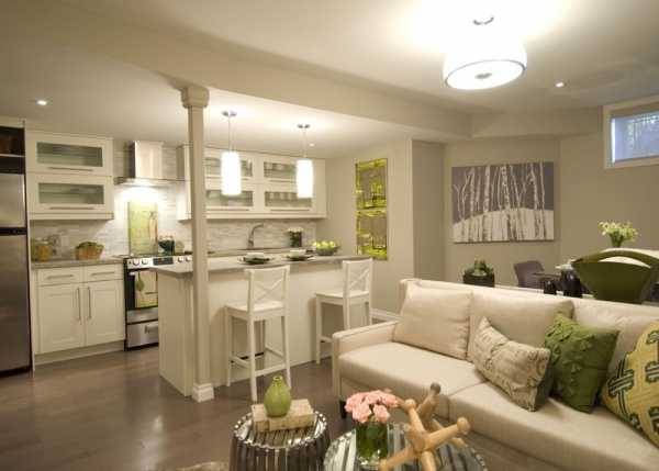 Интерьер кухни совмещенной с гостиной (180+ фото дизайна)