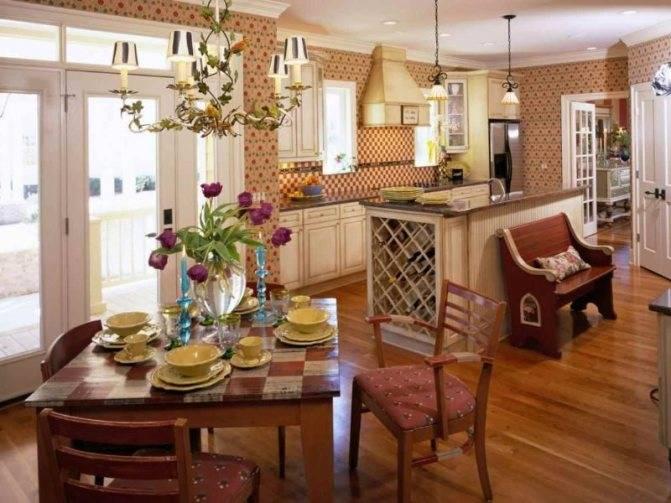 Маленькая деревянная  кухня: дизайн и отделка кухни из дерева (65 фото)