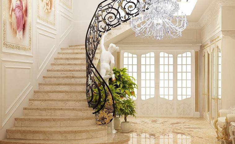 Лестницы на второй этаж в частном доме - деревянные, винтовые, компактные, поворотные, поворотные, сварные, выдвижные, в эркере, из бревна, кованные, дизайн и оформление для коттеджей +фото
