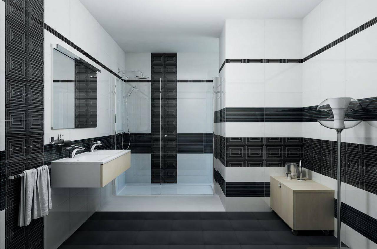 Черно-белая плитка (38 фото): керамические изделия со вставками в интерьере прихожей