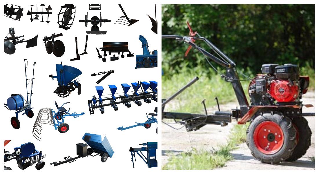 Навесное оборудование для мотокультиваторов: типы, производители и самоделки